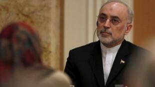 علي اكبر صالحي  رئيس المنظمة الايرانية للطاقة الذرية
