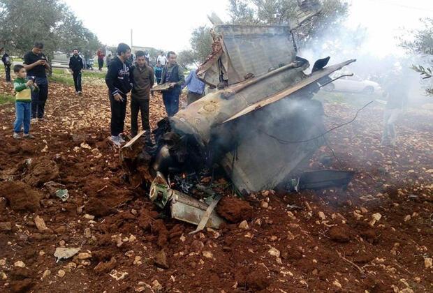 حطام الصاروخ الذي أسقط الطائرة الإسرائيلية يوم السبت 10 فبراير