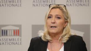 """زعيمة حزب """"التجمع الوطني"""" الفرنسي مارين لوبان"""