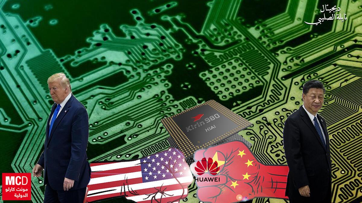 تأثر قطاع التكنولوجيا  fالحرب التجارية المتصاعدةبين الصين والولايات المتحدة الأمريكية