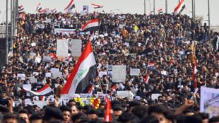 الاحتجاجات في مدينة النجف