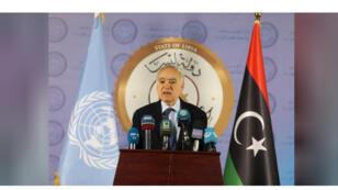 غسان سلامة مبعوث الأمم المتحدة الخاص إلى ليبيا خلال مؤتمر صحفي في طرابلس