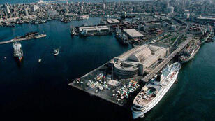 جانب من ميناء الإسكندرية