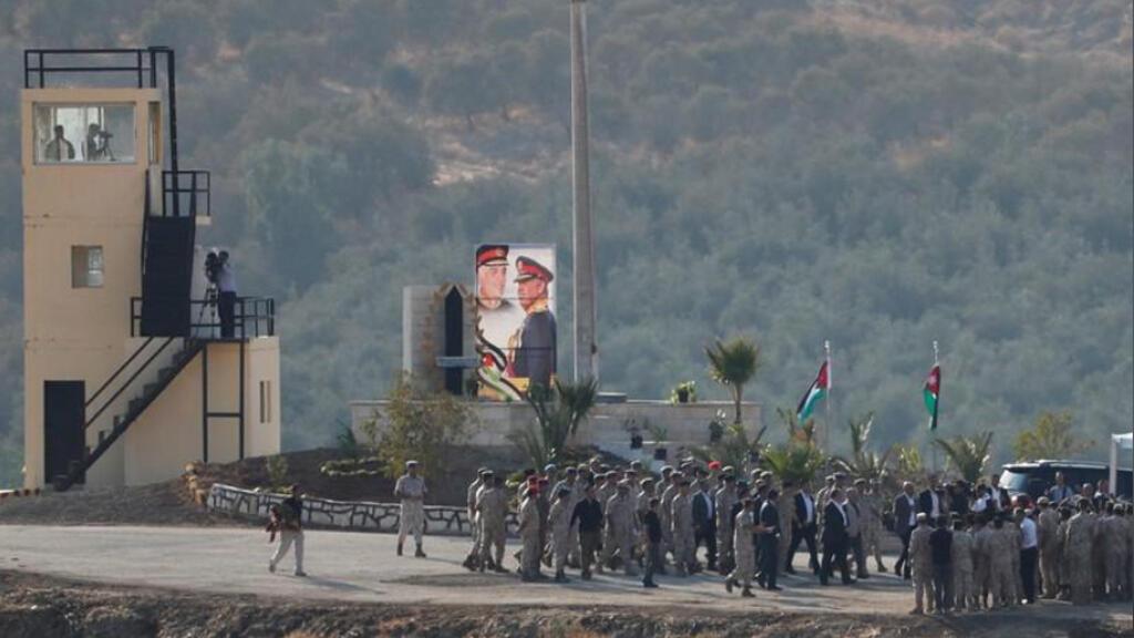 عاهل الأردن الملك عبد الله في الباقورة على الحدود مع إسرائيل يوم الاثنين 11 نوفمبر 2019