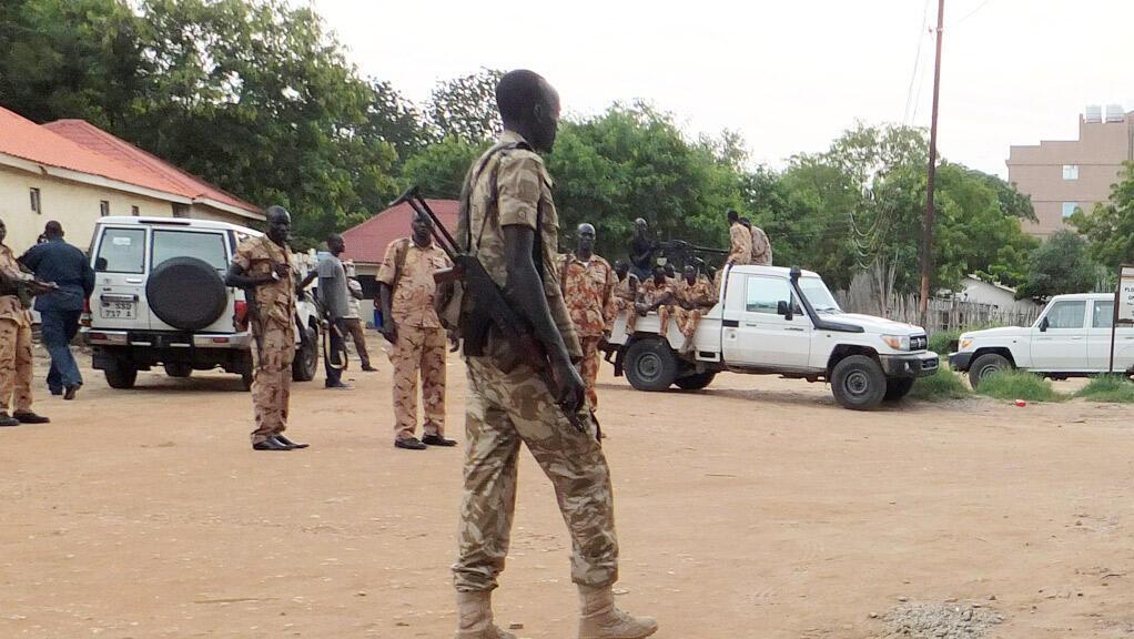 رجال شرطة وجنود في جوبا عاصمة جنوب السودان