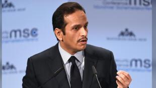 وزير الخارجية القطري الشيح محمد بن عبد الرحمن آل ثاني-
