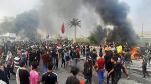 الاحتجاجات في مدينة الناصرية يوم 29 نوفمبر 2019