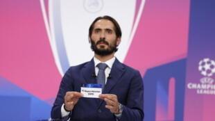قرعة دوري أبطال أوروبا لكرة القدم التي جرت في مدينة نيون السويسرية يوم 19 مارس -آذار 2021