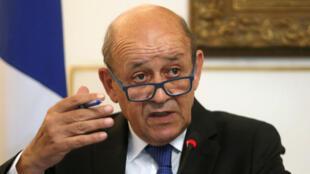 وزير الخارجية الفرنسي جون ايف لودريان-