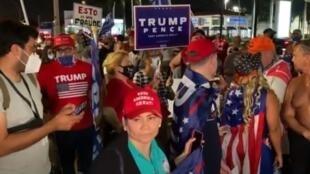 """أنصار ترامب يحتجون في ميامي """"أوقفوا السرقة"""""""