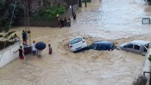 فياضانات في نابل بتونس