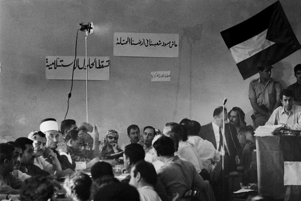 اجتماع المجلس الوطني الفلسطيني في آب 1970 في عمّان بحضور ياسر عرفات وكمال ناصر