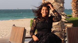 الناشطة النسوية السعودية لجين الهذلول في فرنسا