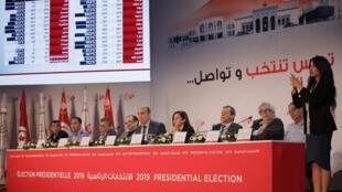 الهيئة العليا المستقلة للانتخابات التونسية تقدم نتائج الانتخابات