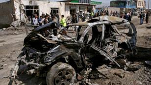 حطام سيارة مفخخة في كابول