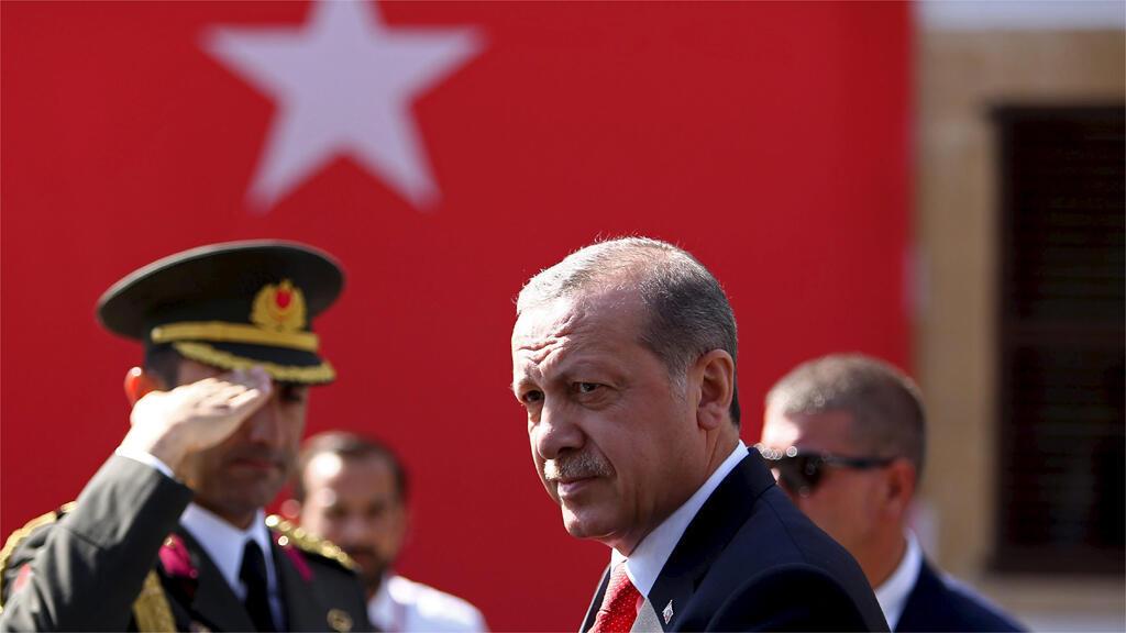 أردوغان خلال زيارة لقبرص الشمالية في 20 تموز 2015