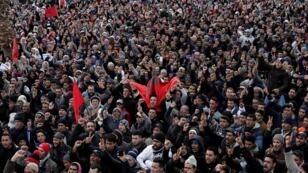 احتجاجات في مدينة جرادة المغربية بعد وفاة عامل منجم  أثناء عمله في منجم فحم سري / رويترز 03 فبراير 2018