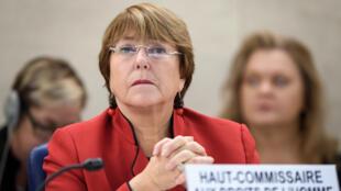 المفوضة العليا لحقوق الإنسان في الأمم المتحدة ميشال باشليه