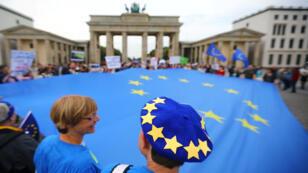 مظاهرات في برلين احتجاجا على خروج بريطانيا من الاتحاد الأوروبي دون اتفاق