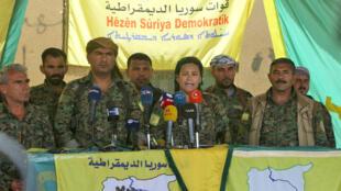 بعض قيادات قوات سوريا الديمقراطية