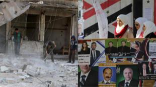 ضاحية مدينة حلب بعد القصف وقائمة مرشحي الانتخابات في سوريا 11-04-2016