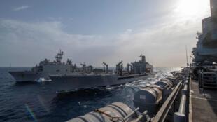 سفن عسكرية أميركية في الخليج