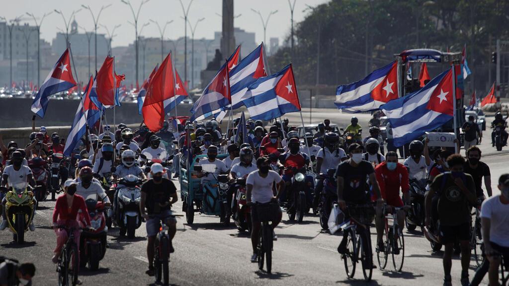 مظاهرة في العاصمة الكوبية هافانا ضد الحصار الأمريكي