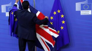 استبدال علم بريطانيا بعلم الاتحاد الأوروبي