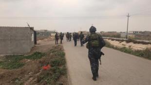 الجيش العراقي قرب موقع اتسهدف بالكاتوشيا