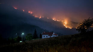 حرائق غابات كاستيلو برانكو في البرتغال