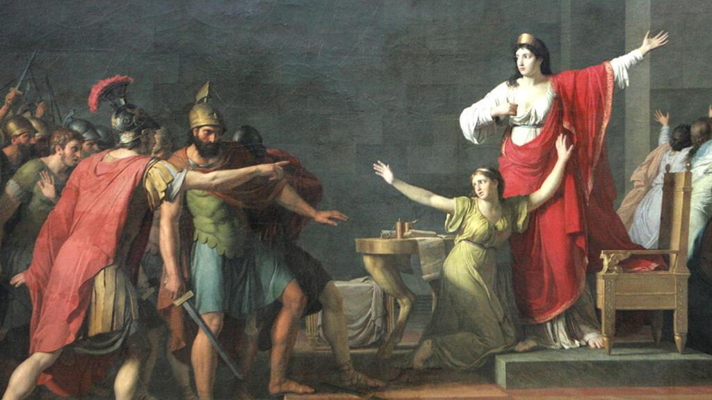 """لوحة """"كاساندرا وأوليمبياس"""" للفنان الفرنسي جان جوزيف تاياسون"""