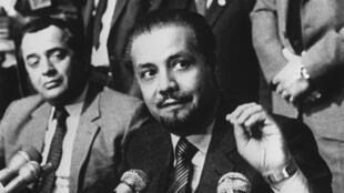وزير البترول السعودي الأسبق أحمد زكي يماني في فيينا عام 1982