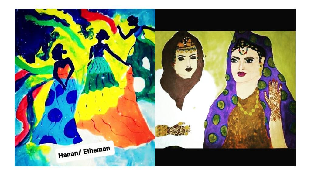 لوحة للفنانة التشكيلية الموريتانية حنان عثمان