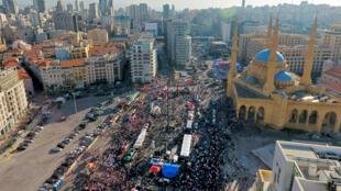 الاحتفال يعيد الاستقلال في بيروت يوم 22 نوفمبر 2019