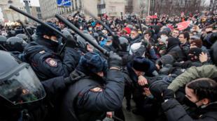 تظاهرة في العاصمة الروسية تطالب بإطلاق سراح نافالني