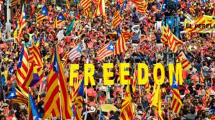 مظاهرات كاتالونيا المطالبة بالاستقلال