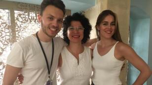 الموسيقي سامويليتو وراقصة الفلامنكو باتريسيا غيريرو مع ميساء عيسى