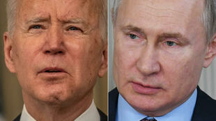 الرئيس الأمريكي جو بايدن ( على اليسار) والروسي فلاديمير بوتين