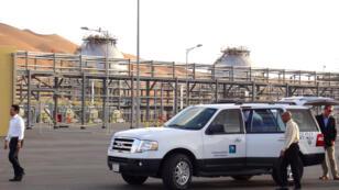 محطة ضخ نفطية لشركة أرامكو، السعودية، الظهران