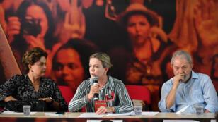 لولا دا سلفيا في الحفل الانتخابي الذي نظمه حزب العمال في مدينة ساو باولو البرازيلية يوم 25 يناير 2018