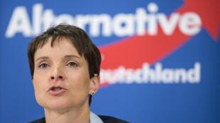 """رئيسة حزب """" البديل من أجل ألمانيا"""" فراوكه بيتري"""