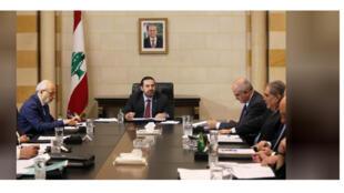 جانب من اجتماع الحكومة اللبنانية الجديدة برئاسة سعد الحريري في بيروت