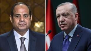 الرئيسان المصري عبد الفتاح السيسي والتركي رجب طيب أردوغان