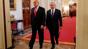 بينامين نتانياهو ودونالد ترامب