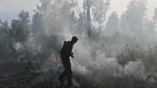 حرائق في غابات سيبيريا