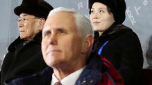 نائب الرئيس الأمريكي مايك بنس خلال دورة الألعاب الأولمبية الشتوية في كوريا الجنوبية