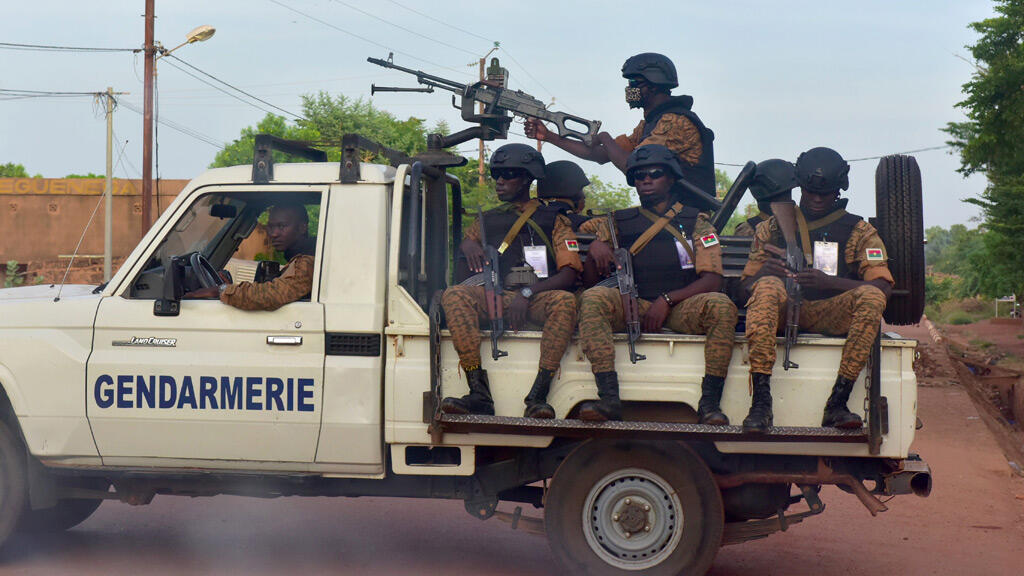 عناصر الدرك من بوركينا فاسو في العاصمة واغادوغو