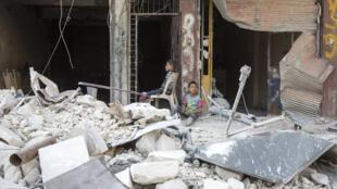 حي طريق الباب شمال  حلب التي تسيطر عليها المعارضة السورية (06-07-2016)