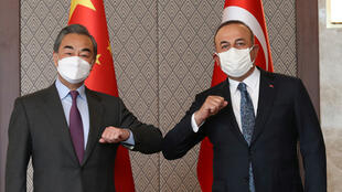 وزير الخارجية التركي مع نظيره الصيني في أنقرة