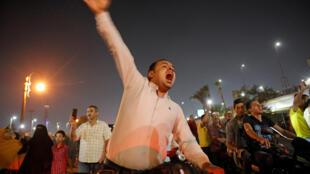 صورة لاحتجاجات الشارع المصري ضد الرئيس السيسي